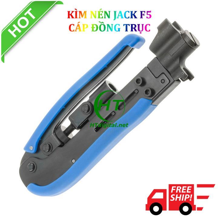 Kìm bóp - nén jack F5 cáp đồng trục RG59/RG6/RG11