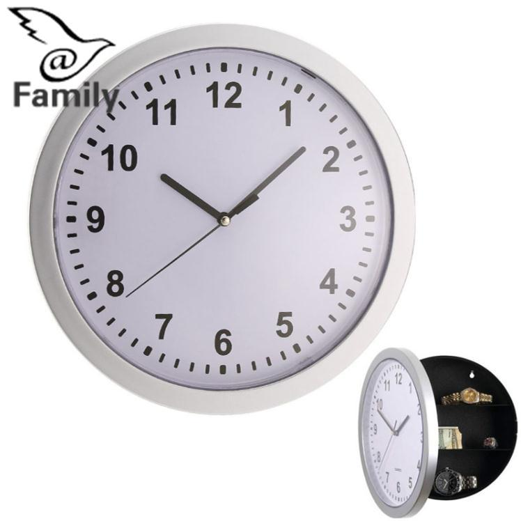 Big Family:Wall Clock Safe Hanging Hidden Money Valuables Home Time Brief Numbers Storage - intl
