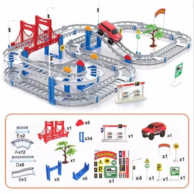 Hình ảnh Bộ Ô TÔ ĐƯỜNG RAY - Đồ chơi lắp ráp đường đua ô tô hay nhất hiện nay