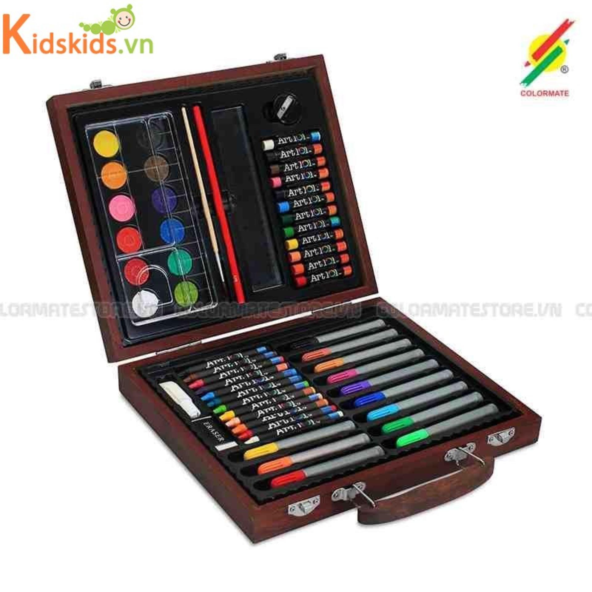 Hình ảnh Bút màu hộp gỗ M 56 Colormate