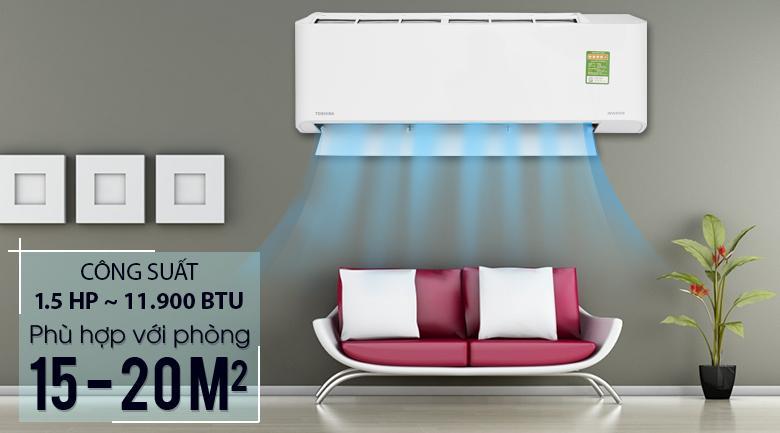 Bảng giá Máy lạnh Toshiba Inverter 1.5 HP RAS-H13FKCVG