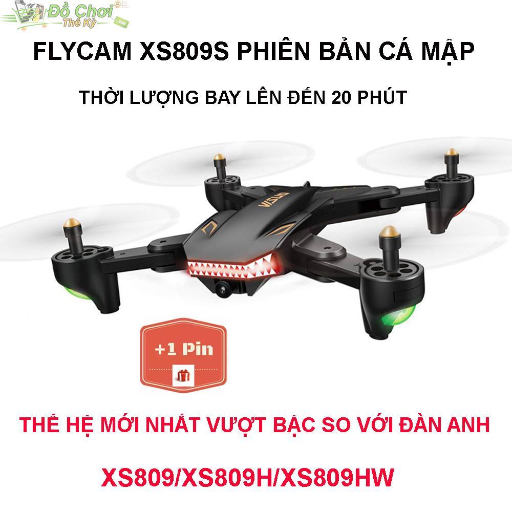 Hình ảnh ( GỒM 2 PIN ) Flycam VISUO XS809S Battle Shark - Bản Nâng Cấp Mới Nhất, Camera FPV 2.0MP, Truyền Trực Tiếp Qua Điện Thoại