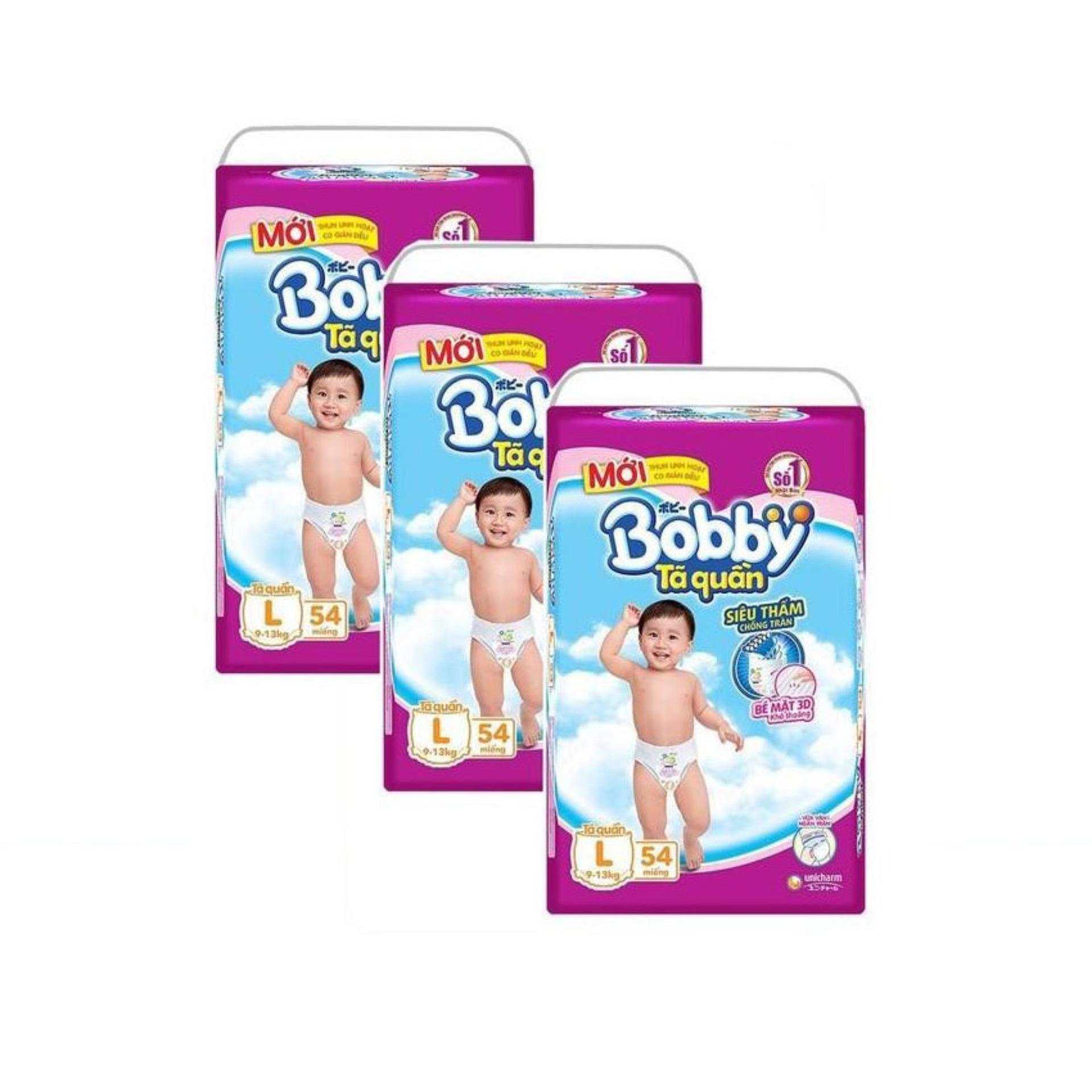 Bộ 3 Goi Ta Quần Bobby L54 Bobby Chiết Khấu 40