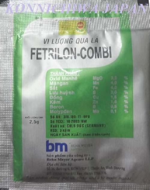 Hình ảnh 2 gói phân bón vi lượng FETRILON-COMBI của Behn Meyer gói 2.5g