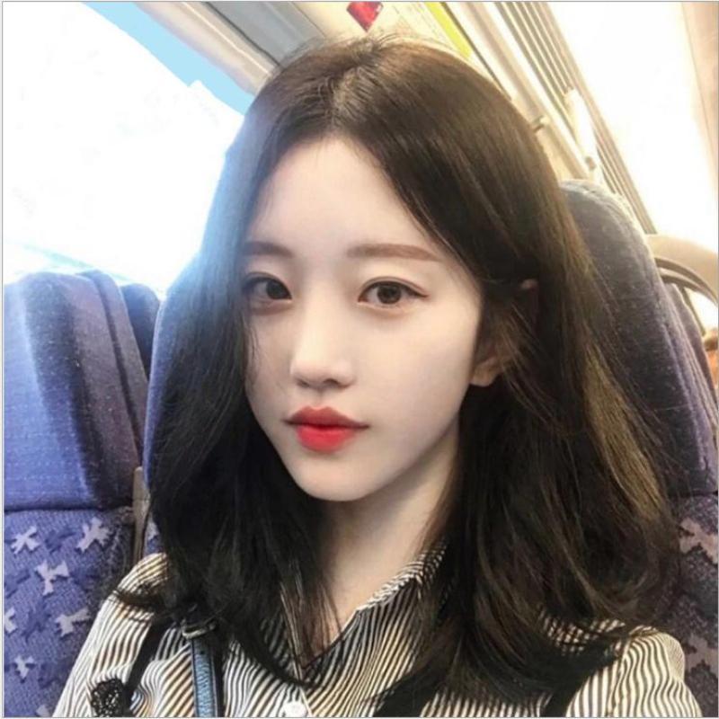 [TẶNG KÈM LƯỚI] Tóc giả nữ Hàn Quốc cao cấp CÓ DA ĐẦU -  TG8075 ( MÀU ĐEN ) nhập khẩu
