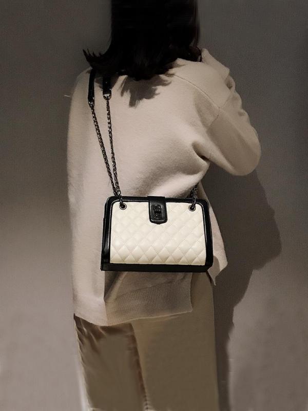 New Arrival Bag Female 2019 New Style Fashion Korean Style Fashion Rhombus Chain Tote Bag Versatile Crossbody Bag Large Bag