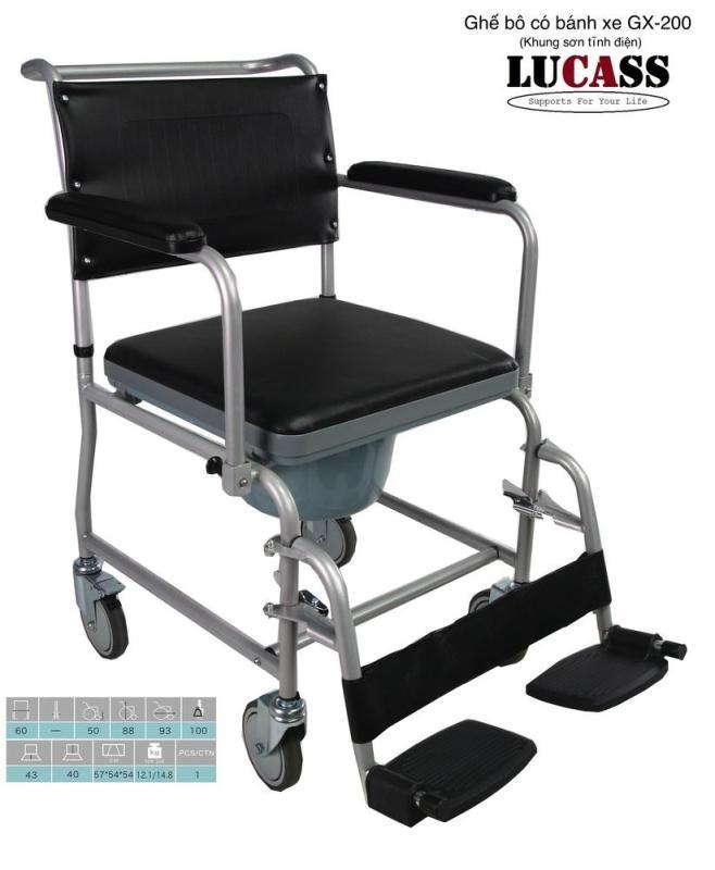 Ghế bô vệ sinh 2 lớp có bánh xe cao cấp nhập khẩu