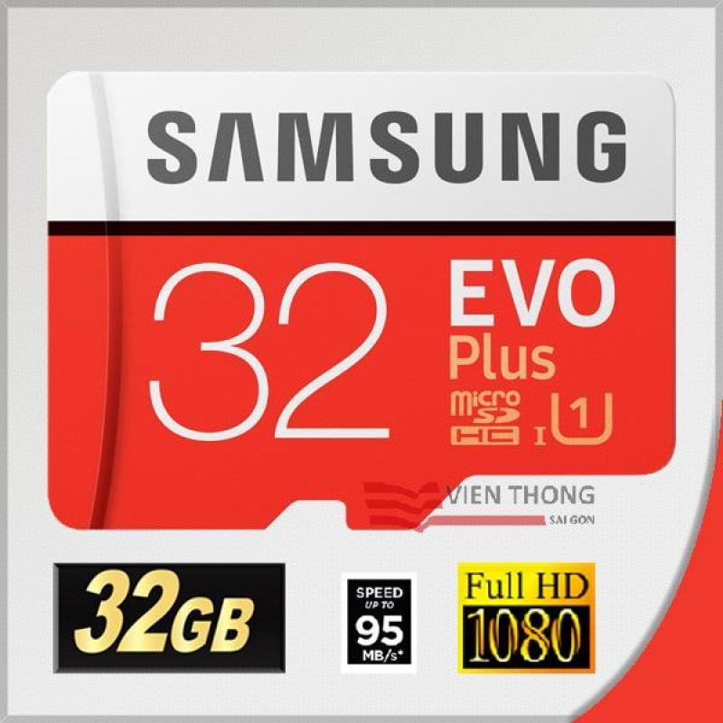 Thẻ nhớ MicroSDHC Samsung EVO Plus 32GB 95MB/s - Bảo hành 5 năm 1 đổi 1