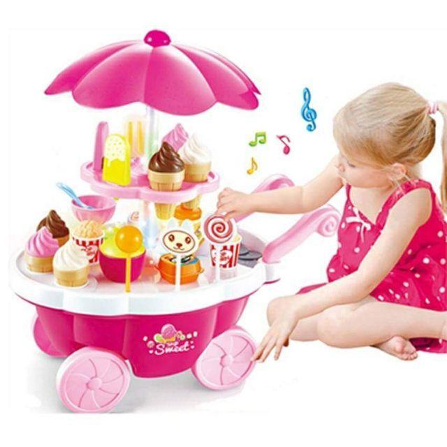 Hình ảnh Bộ đồ chơi xe đẩy kem có đèn phát và nhạc (39 pcs)