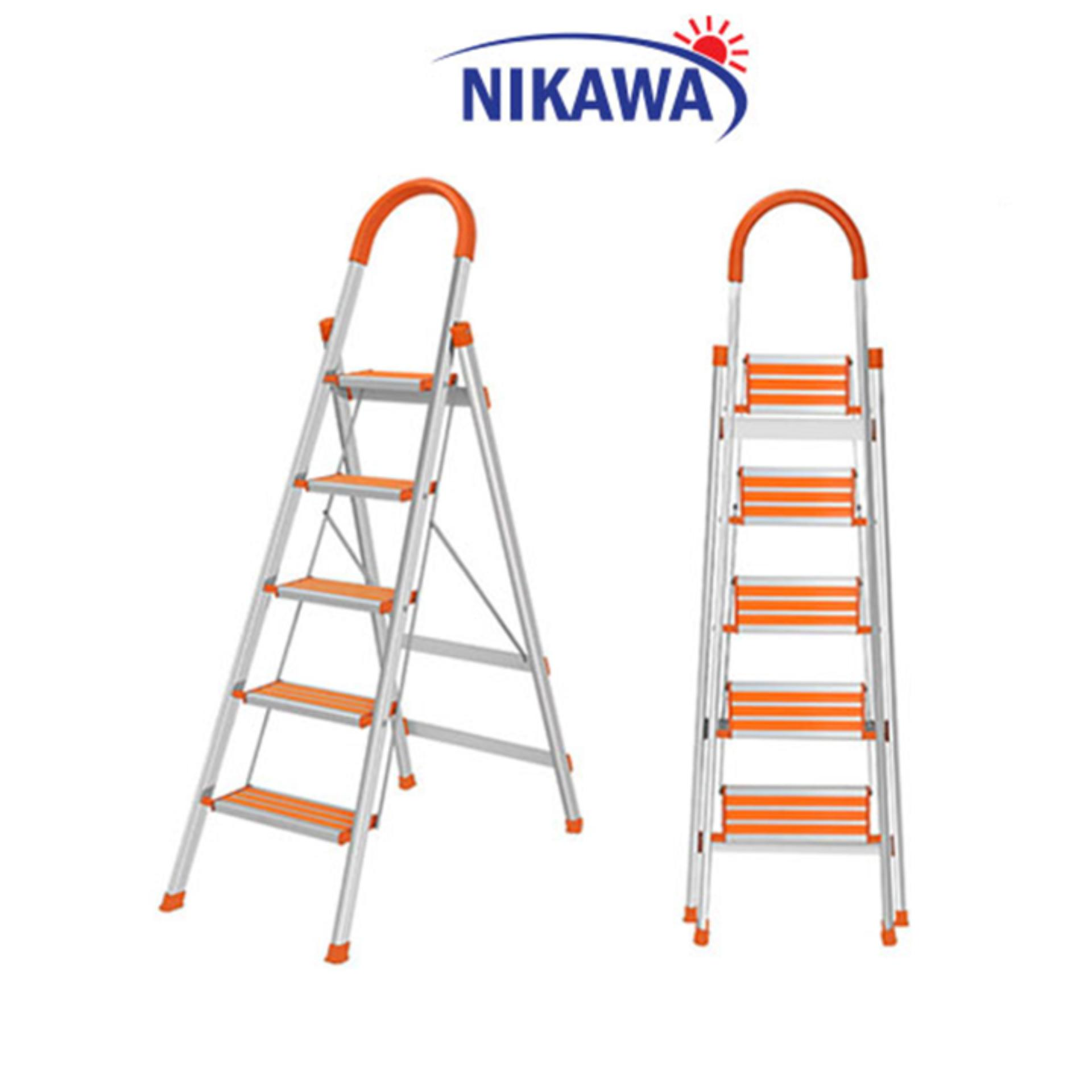 Thang Nhôm Ghế Nikawa NKA05 Nhật Bản - 5 Bậc 1,2m