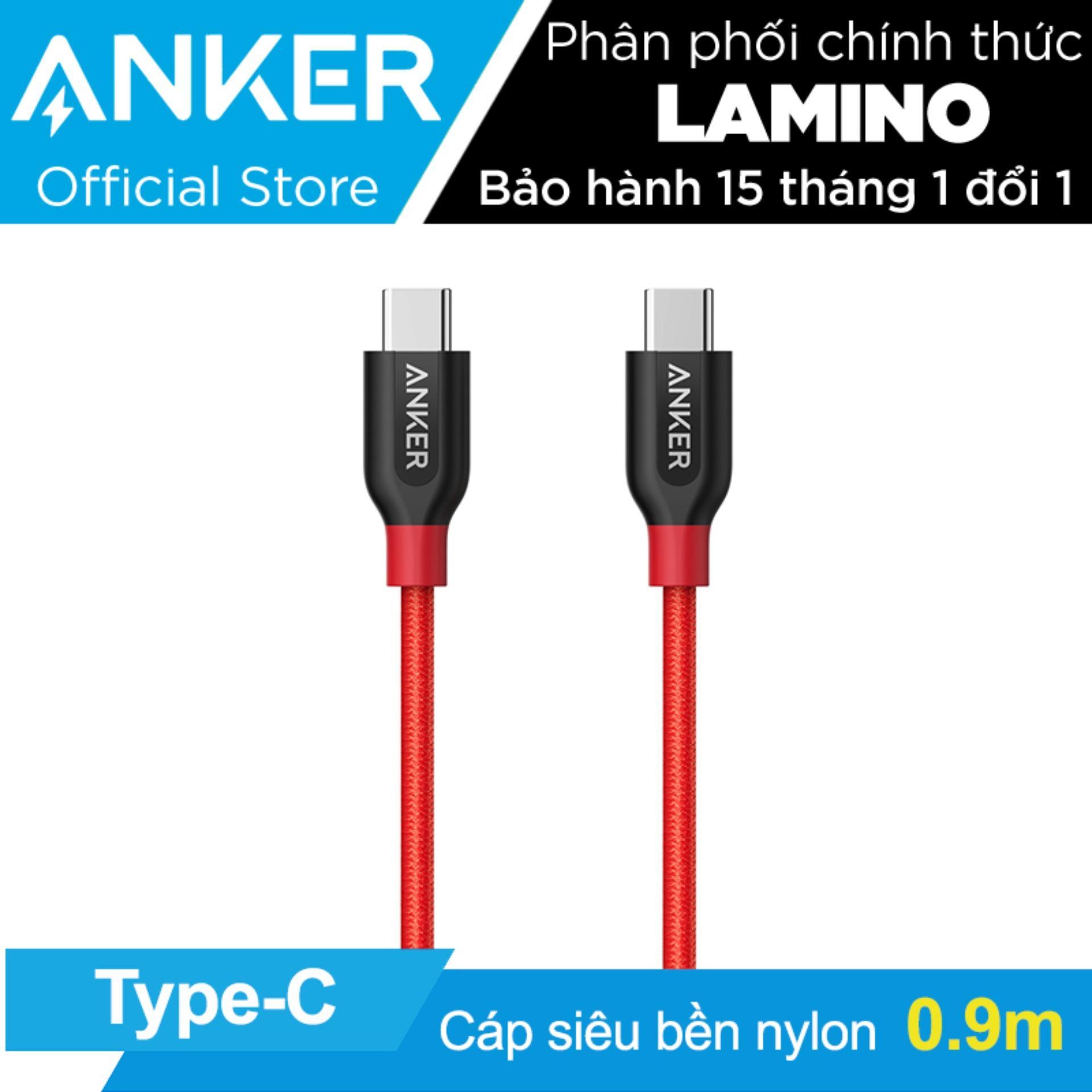 Ôn Tập Cap Sieu Bền Type C Anker Powerline Usb C Ra Usb C 2 Dai 9M Đỏ Hang Phan Phối Chinh Thức Anker