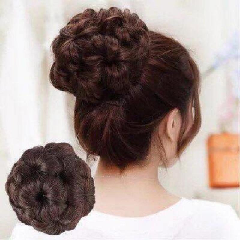 Búi tóc tròn hoa cực đẹp