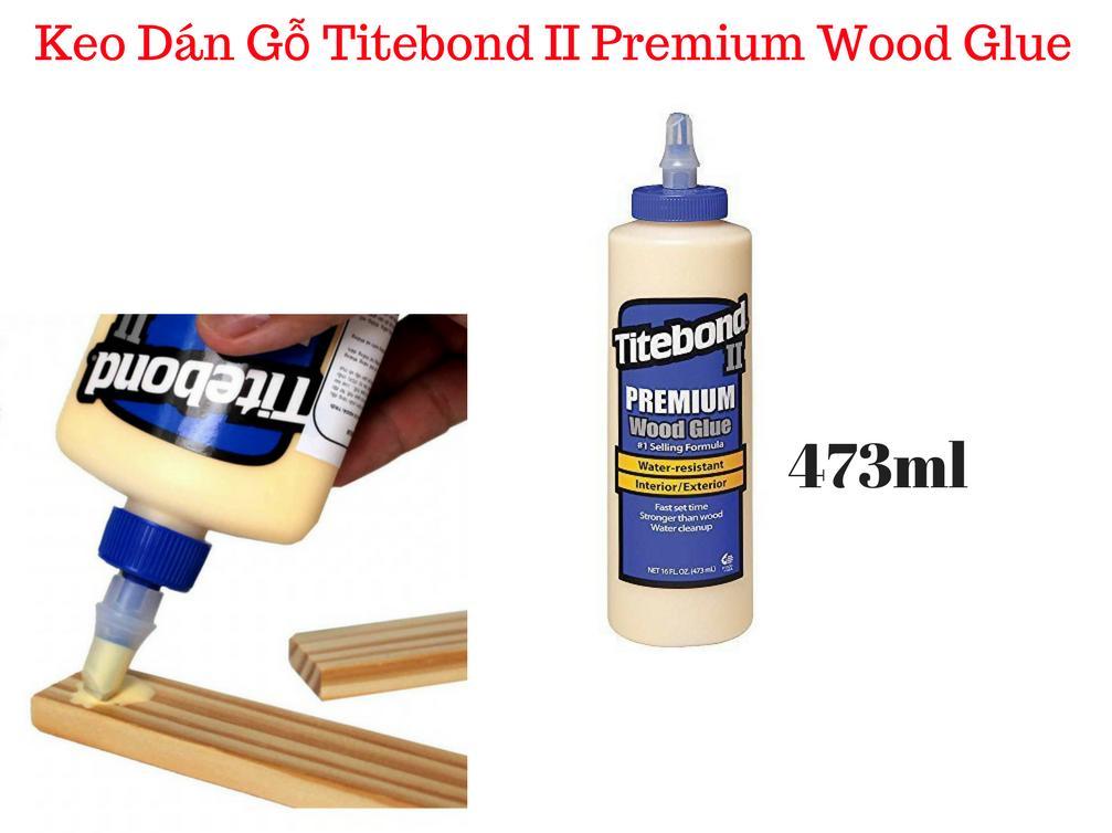Hình ảnh Keo Dán Gỗ Nội Thất, Ngoại Thất Titebond II Premium Wood Glue 473ml