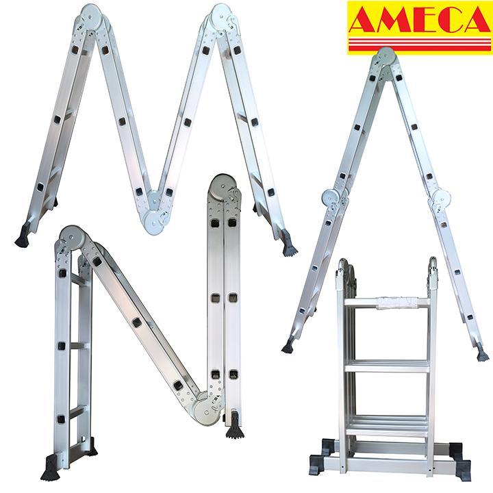 Thang gấp 4 khúc AMECA M203 USA - 12 bậc 3,5m
