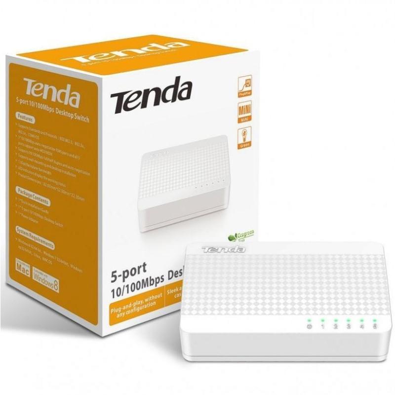 Bảng giá Bộ chia mạng 5 cổng Switch Tenda 5 Port S105 Phong Vũ