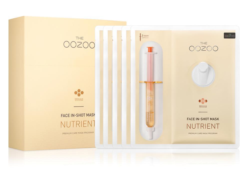 Bán Hộp 5 Mặt Nạ Ống Tiem Cải Thiện Nếp Nhăn Dưỡng Da Căng Mịn The Oozoo Face In Shot Mask Nutrient 30Ml X5 The Oozoo Nguyên