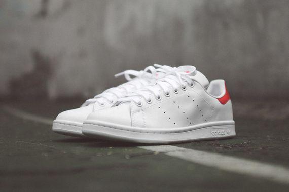 Giày sneaker Adidas Stan Smith Gót Đỏ Nữ