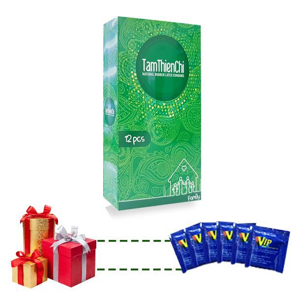 Hình ảnh Bao cao su Tâm Thiện Chí mỏng truyền nhiệt Hộp 12 chiếc tặng 5 gói gel bôi trơn VIP