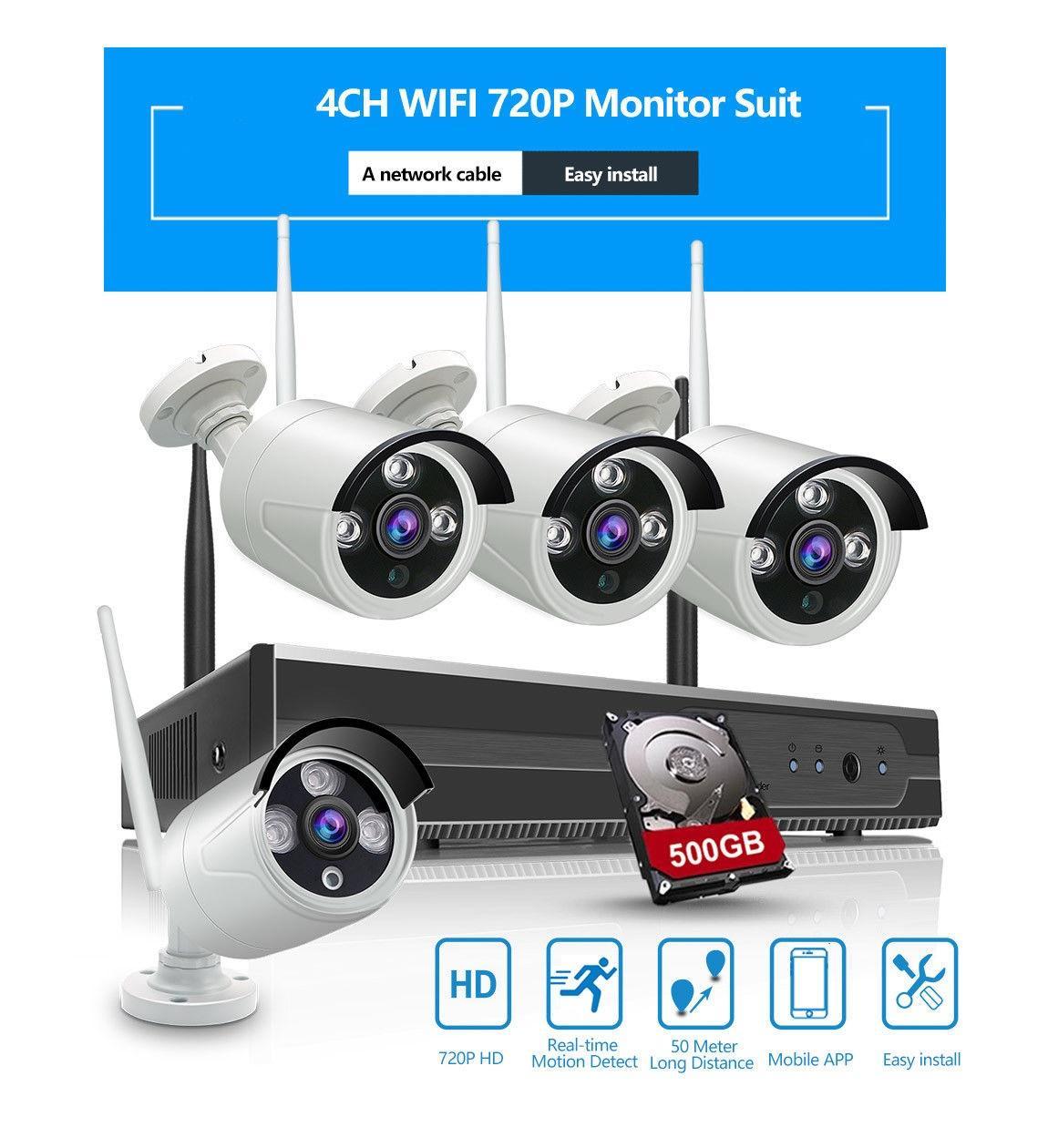 Giá Bán Bộ 4 Camera Wifi 720P Đầu Ghi Nvr Hd Tặng Ổ Cứng Lưu Trữ 500Gb Hồ Chí Minh