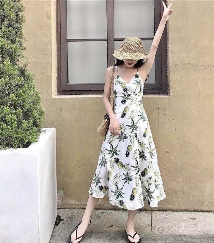 Hình ảnh Đầm Dáng Suông Maxi Cây Dừa - Thời trang nữ