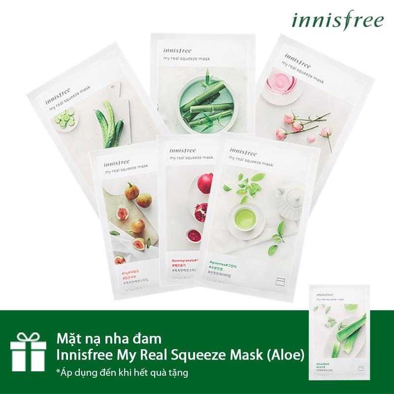 Mã Khuyến Mại Mua 6 Tặng 1 Bộ Mặt Nạ Innisfree My Real Squeeze Mask 6 Miếng Tặng 1 Mặt Nạ Nha Đam Innisfree My Real Squeeze Mask Aloe 20Ml Innisfree Mới Nhất