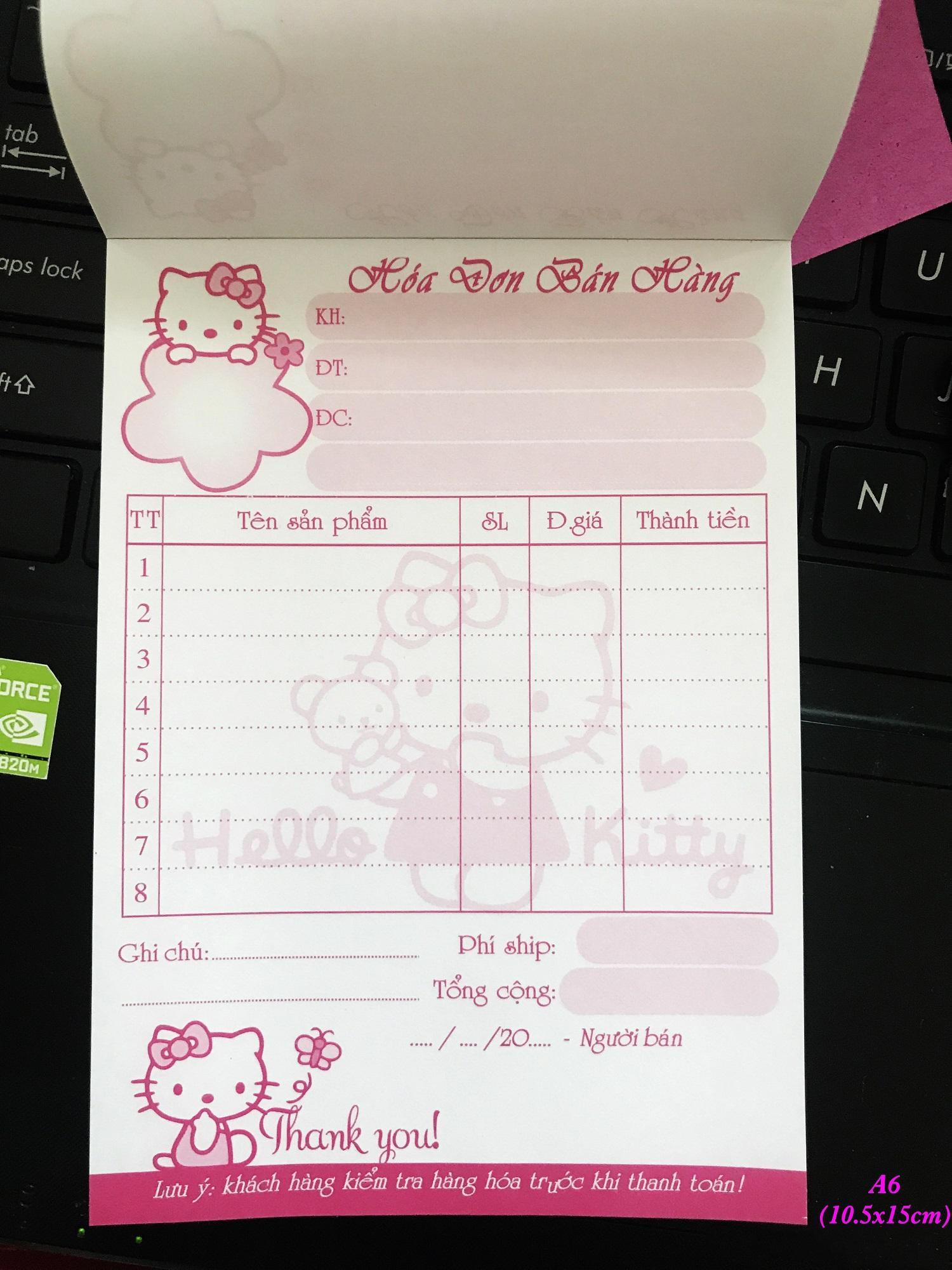 Mua 10q Hóa đơn Kitty bé 1 liên