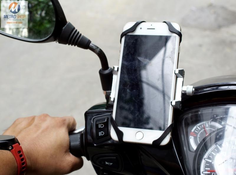 Hình ảnh Giá đỡ điện thoại trên xe máy