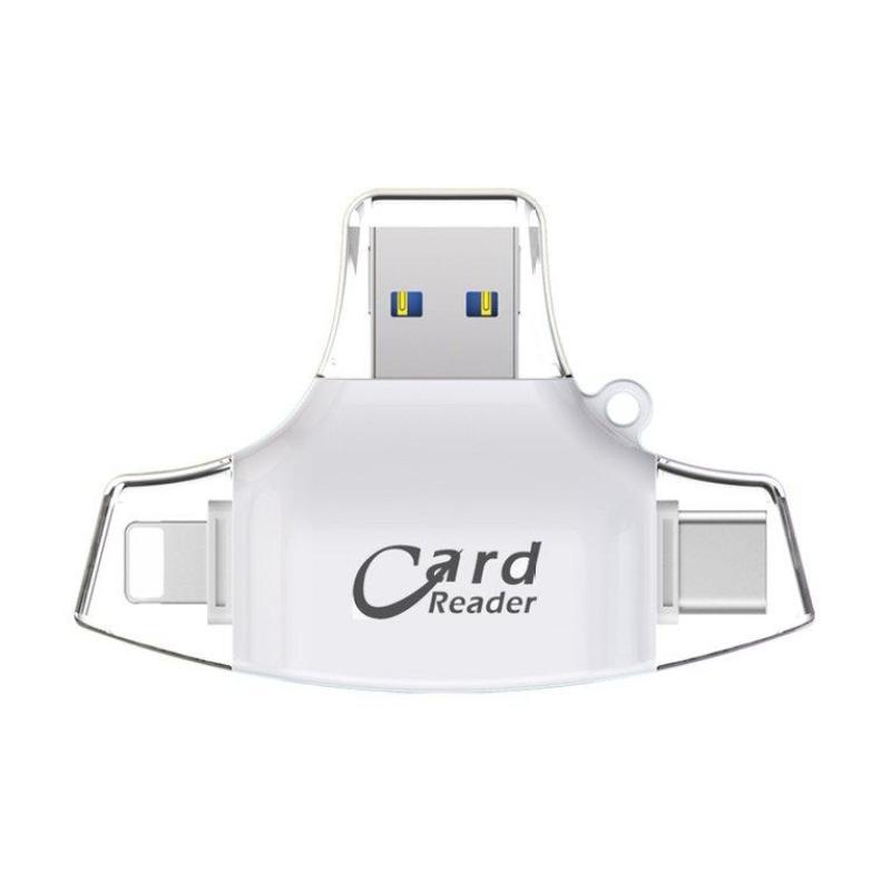 Bảng giá WOND 4 in 1 Mobile Phone Card Reader Type-C USB Connector OTG HUB Adapter TF Card Phong Vũ