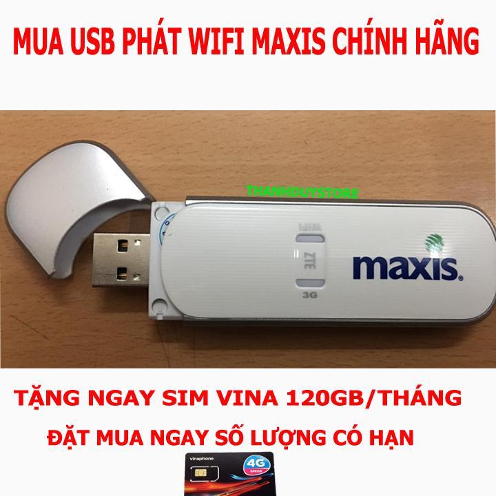 Hình ảnh THIẾT BỊ PHÁT SÓNG WIFI 3G,4G CỰC MẠNH - USB PHÁT WIFI TỪ SIM 3G 4G MAXIS - TẶNG SIÊU SIM DATA KHỦNG
