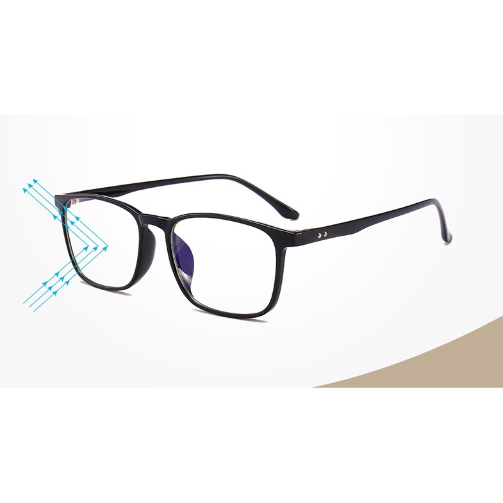 Hình ảnh JK Silver - kính cận nam nữ chống ánh sáng xanh-Us Design K041811 gọng đen nhám cao cấp mẫu mới 2018
