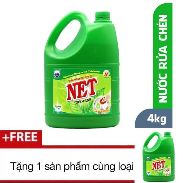 Mua 1 nước rửa chén NET Đậm Đặc Hương Trà Xanh 4kg + Tặng 1 sản phẩm cùng loại