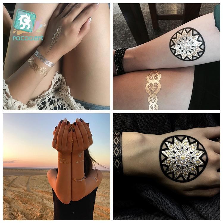 Hình ảnh Hình xăm dán flashtattoo mix henna