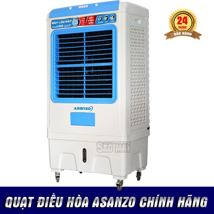 Bảng giá Quạt điều hòa hơi nước làm mát không khí ASANZO A-8000 ( 2018 )