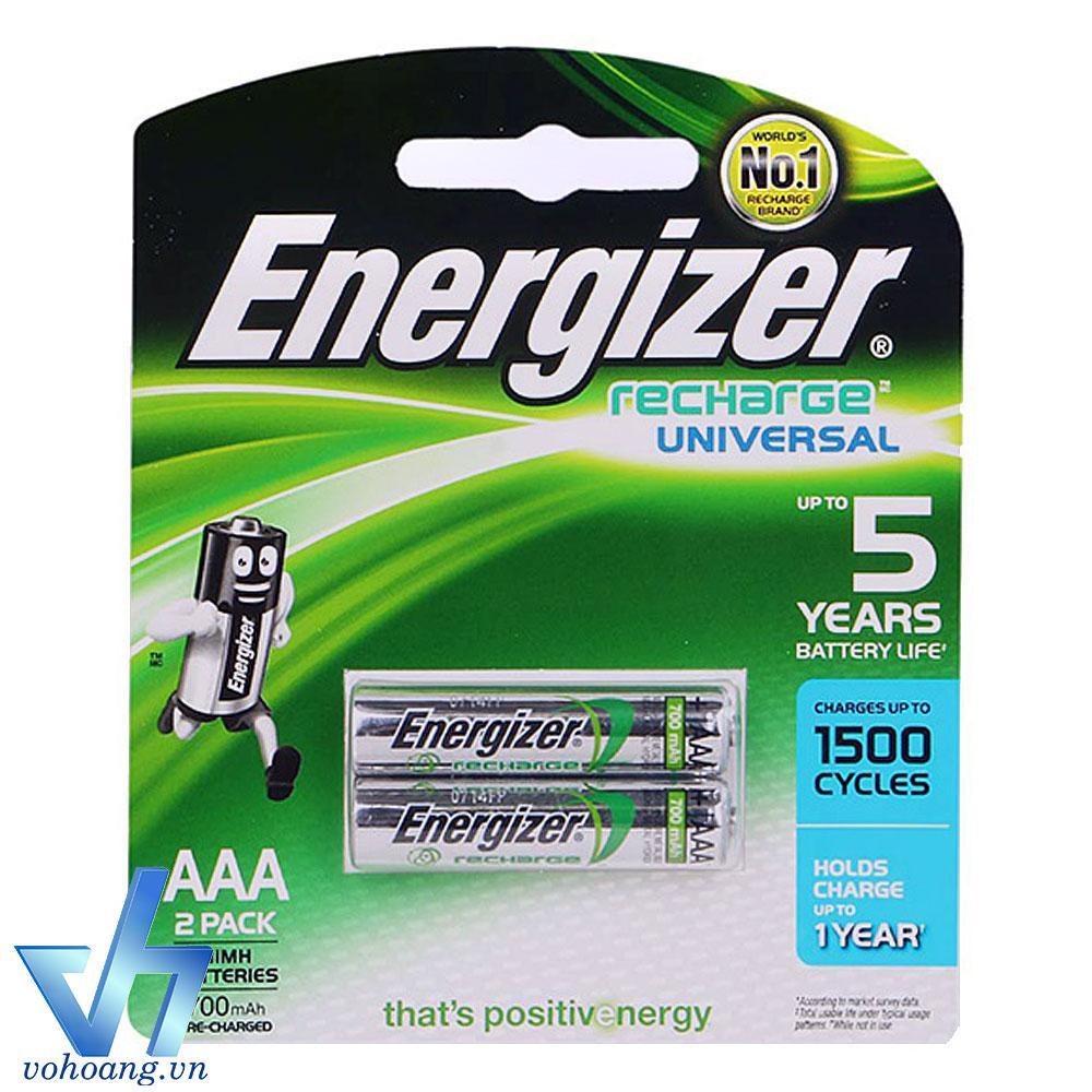 Mã Khuyến Mại Bộ 2 Pin Sạc Aaa Energizer Recharge Universal 700Mah Bạc Energizer Mới Nhất