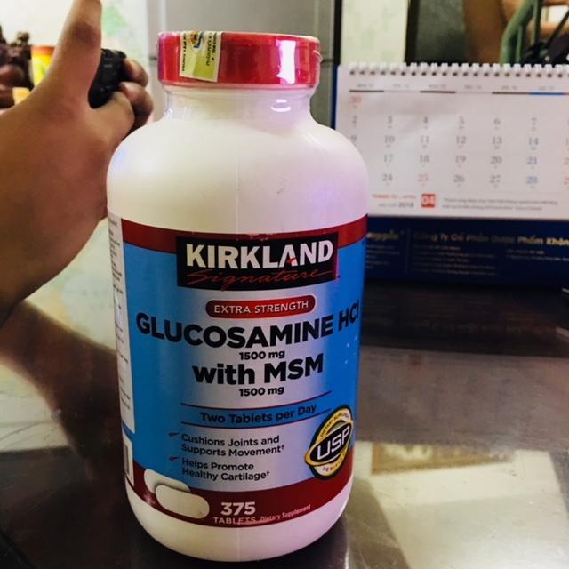 Hình ảnh Viên Uống Bổ Khớp Kirkland Signature Glucosamin Hcl & Msm 1500mg Hộp 375 Viên