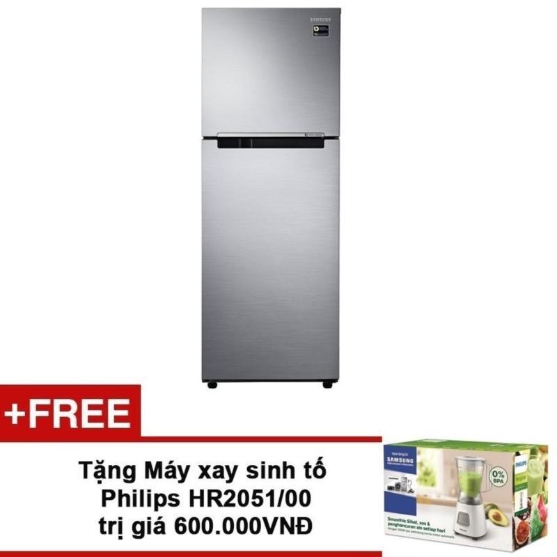 Tủ lạnh Digital Inverter Samsung RT22M4033S8/SV ( 236L ) + Tặng Máy xay sinh tố Philips HR2051/00 trị giá 600.000VNĐ