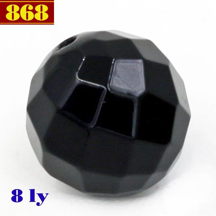 Combo 10 hạt đá thạch anh đen cắt giác