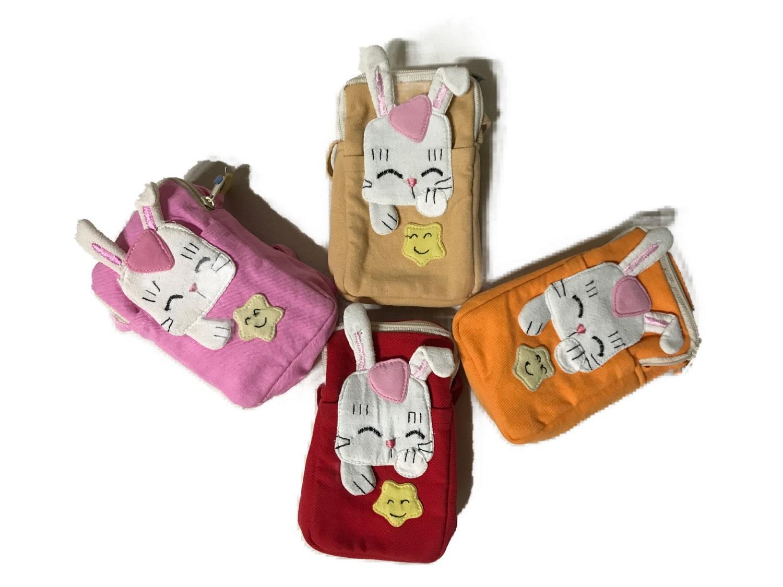 Giá bán HÀNG VN CHẤT LƯỢNG CAO - Túi vải có dây đeo chéo hình thỏ đáng yêu cho bé