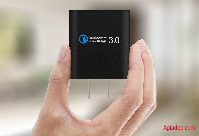 Hình ảnh Củ sạc xịn 1 cổng USB công nghệ sạc nhanh (thế hệ mới) QC3.0 Qualcomm - (hình lập phương)