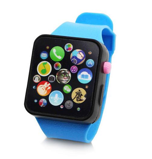 Đồng hồ thông minh cho trẻ em có nhạc and màn hình cảm ứng-Xanh lá-quốc tế