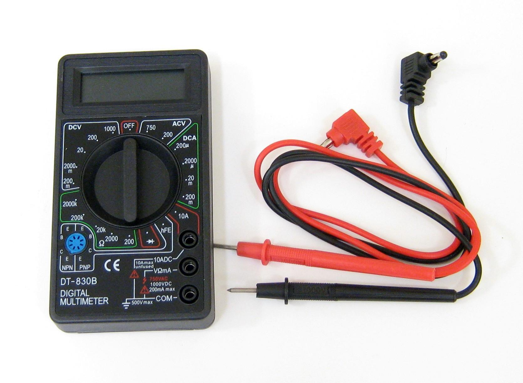 Hình ảnh Đồng hồ vạn năng VOM DT830B kèm pin