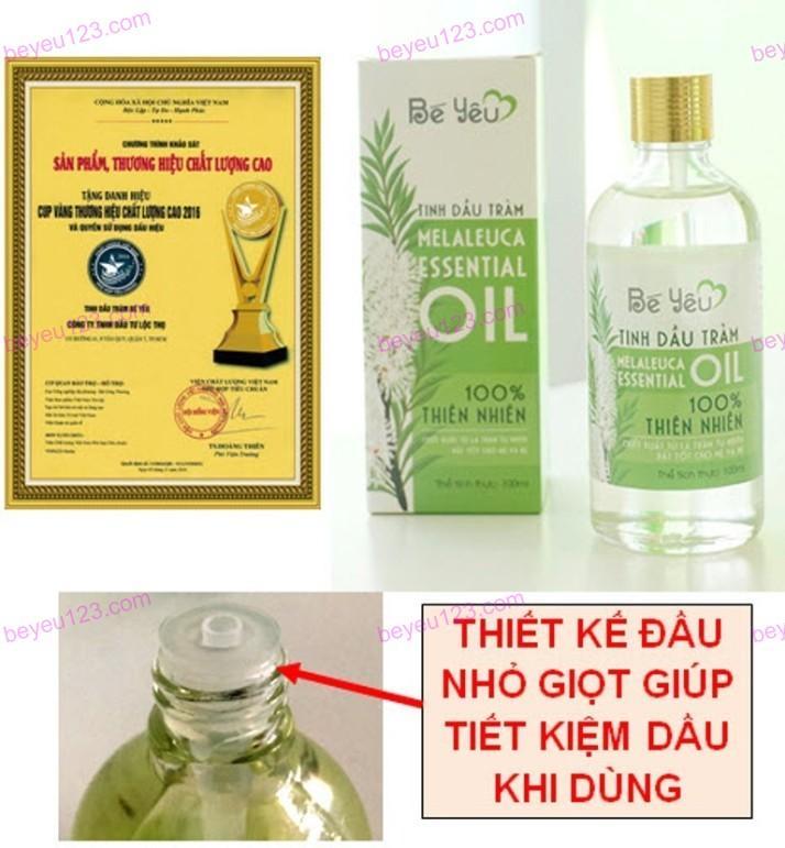 Tinh dầu tràm Bé Yêu 50ml (Huế) (Cúp vàng thương hiệu chất lượng cao)
