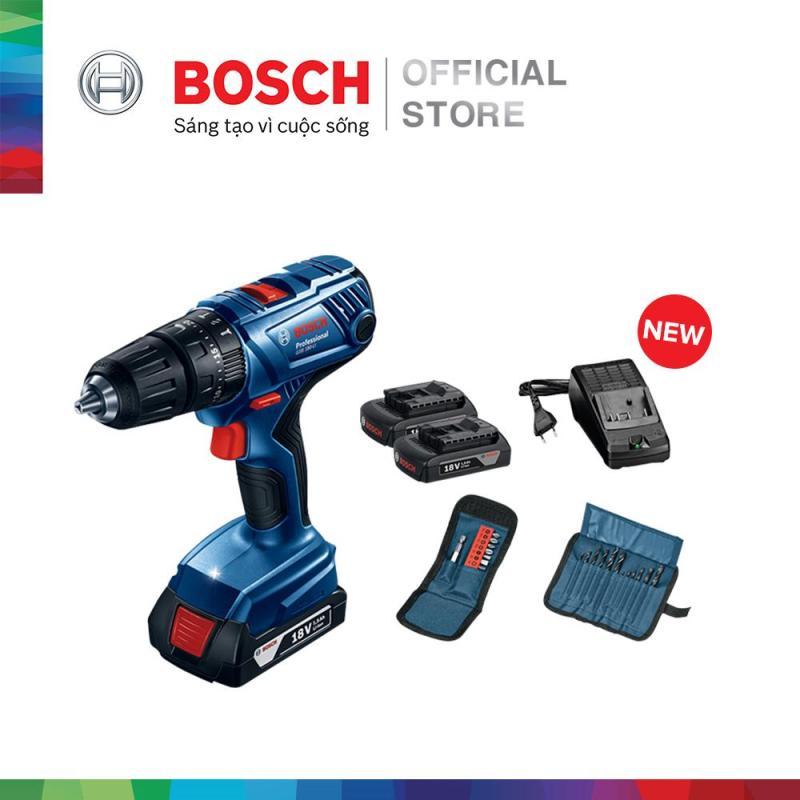 Máy khoan vặn vít dùng pin động lực Bosch GSB 180-LI + phụ kiện MỚI