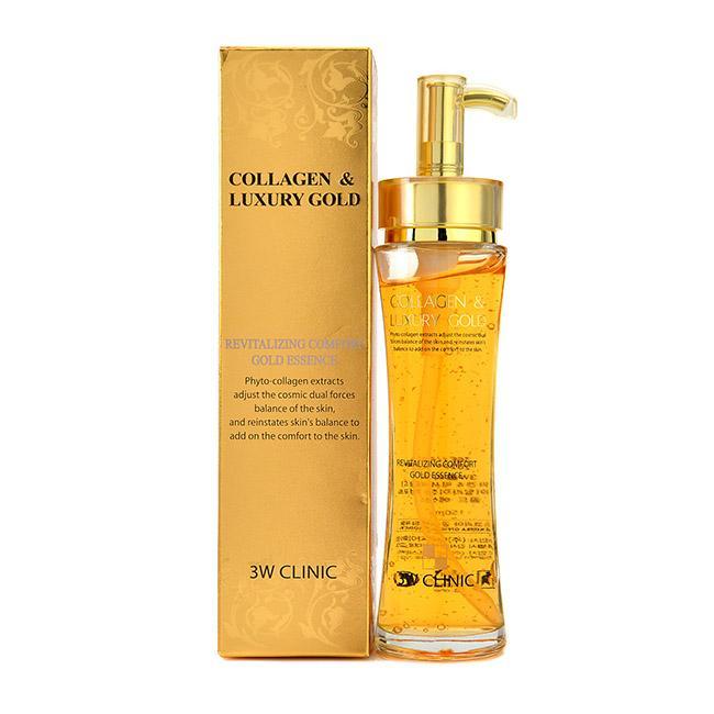 Hình ảnh Tinh chất dưỡng trắng, tái tạo da chống lão hóa 3W Clinic Collagen Luxury Gold 150ml