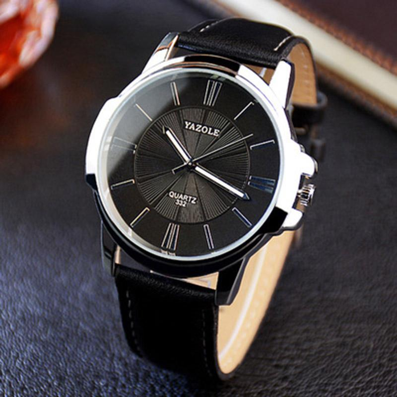 YAZOLE Mens Fashion Quartz Watches Top Brand Luxury Wrist Watch Luminous Waterproof Leather WristWatch For Men Malaysia