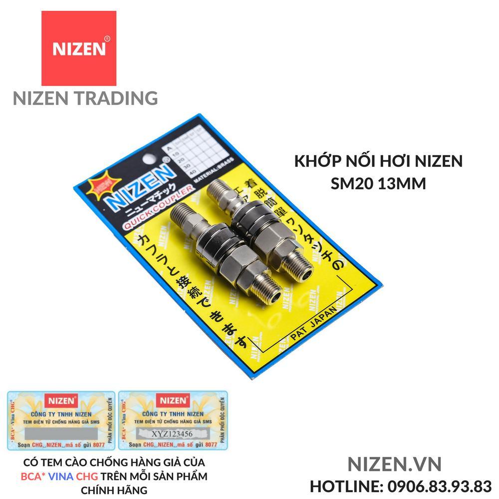 Khớp nối hơi NIZEN SM20 13mm