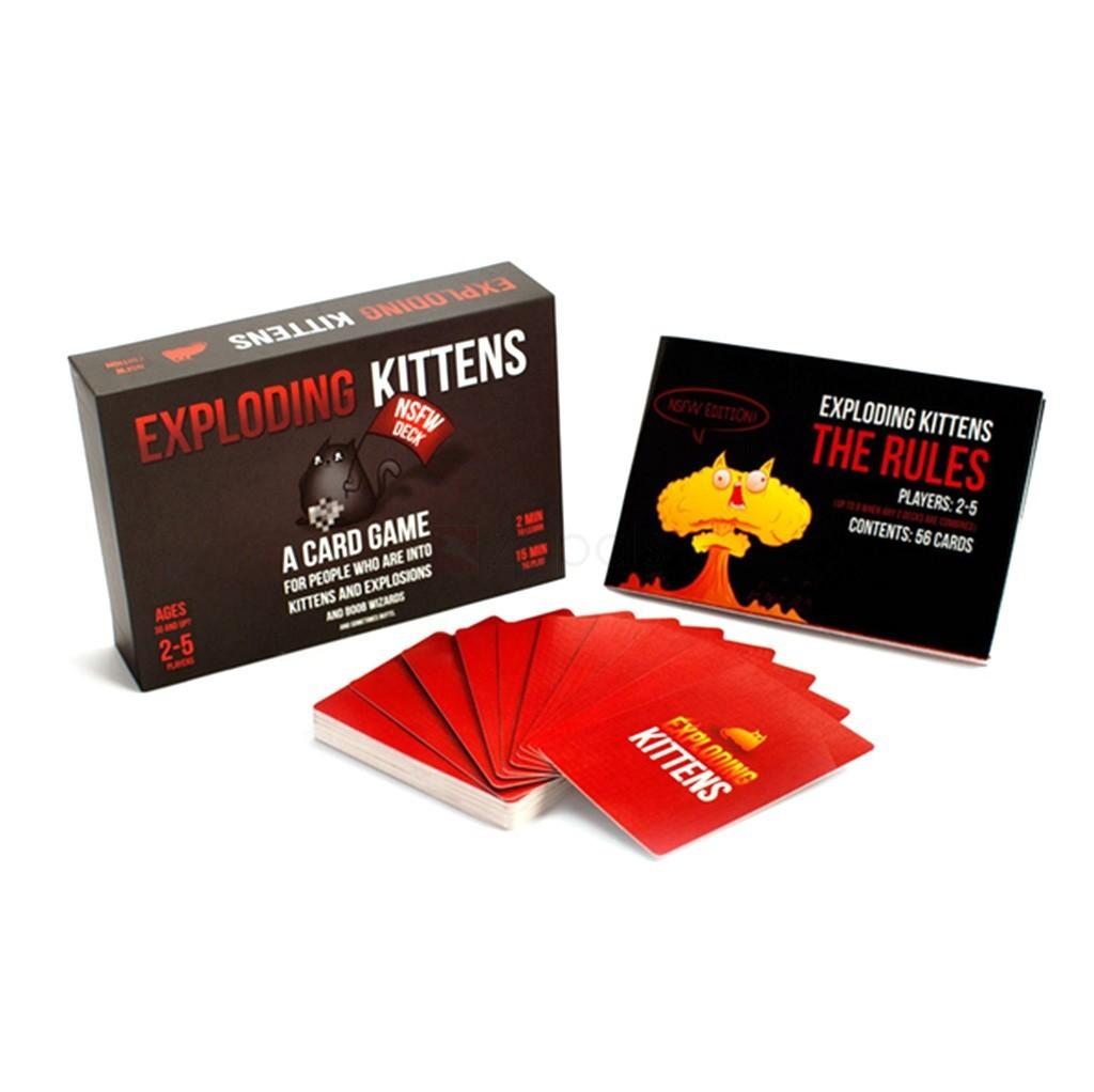 Hình ảnh Bài Mèo nổ Exploding Kittens cơ bản mèo cảm tử bản đẹp Boardgame
