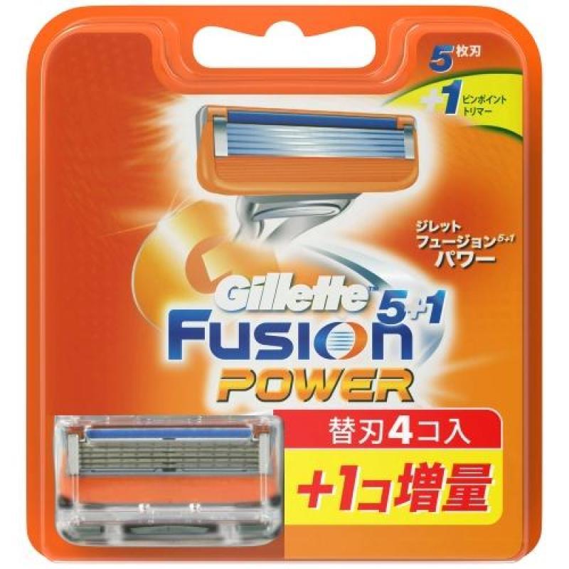 Vỉ 5 Lưỡi Dao Cạo Râu Gillette Fusion Power 5+1