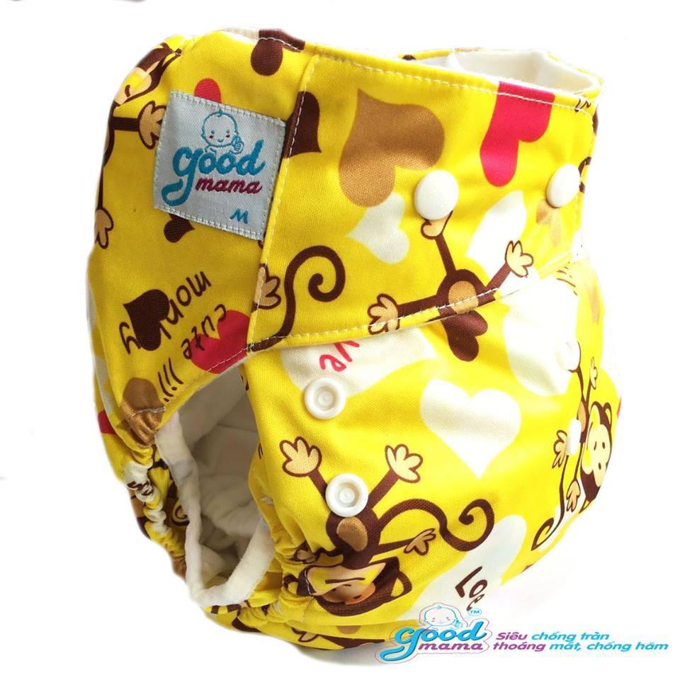 Bỉm vải ban đêm chống trào Goodmama cho bé 3-13kg