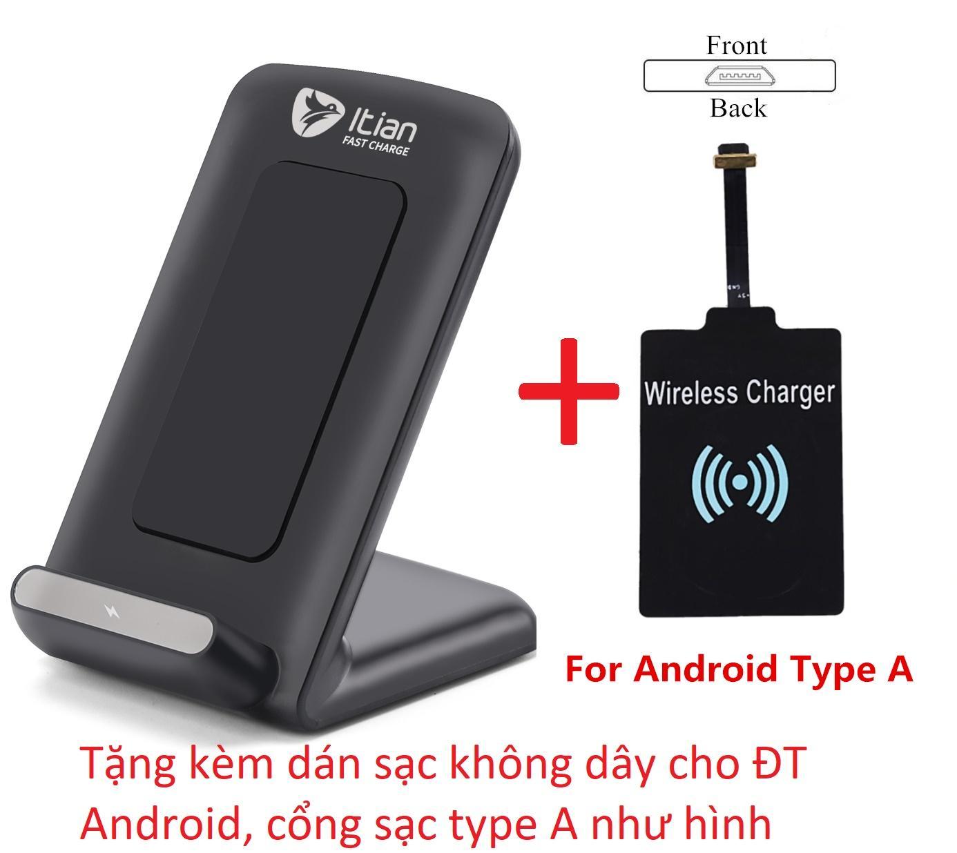 Đế Sạc Nhanh Fastcharge Khong Day Cho Samsung S6 S7 S8 Iphone8 Iphonex Qi Itian A18 10W Đen Tặng Kem Dan Sạc Khong Day Android Hồ Chí Minh Chiết Khấu